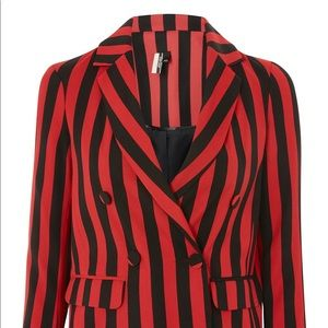 TopShop Black and Red Stripe Blazer